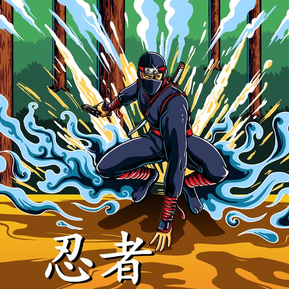 Ninja illustration with the title 'Youtube Ninja'