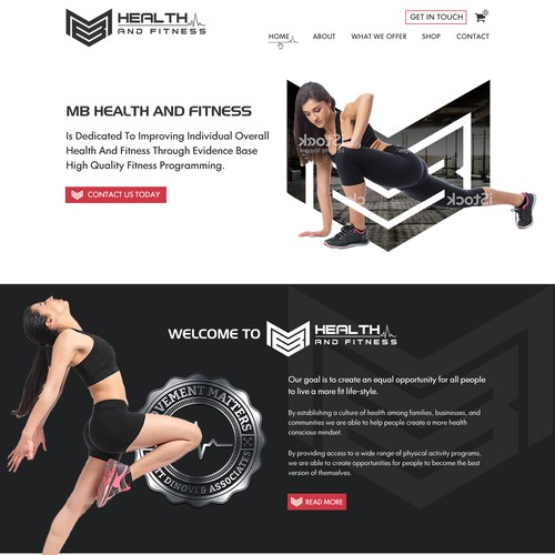Coding website with the title 'Exiting Fitness Coaching Website'