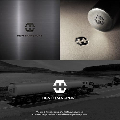 Powerful logo with the title 'Logo for HEVI TRANSPORT'