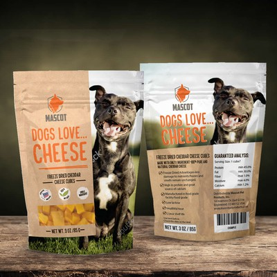 Dogs love...cheese - dog food design suggestion.
