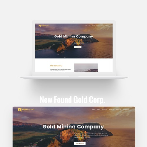 Industrial website with the title 'Gold Mining Company - Modern Website'