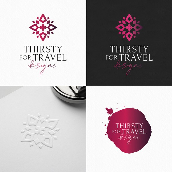 Schedule design with the title 'Thirsty for travel designs'