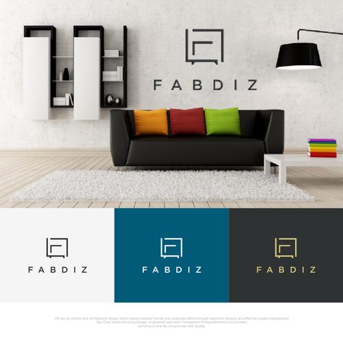 Interior design logo with the title 'Fabdiz'
