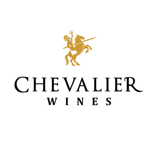Wine logo with the title 'Chevaier Wines'