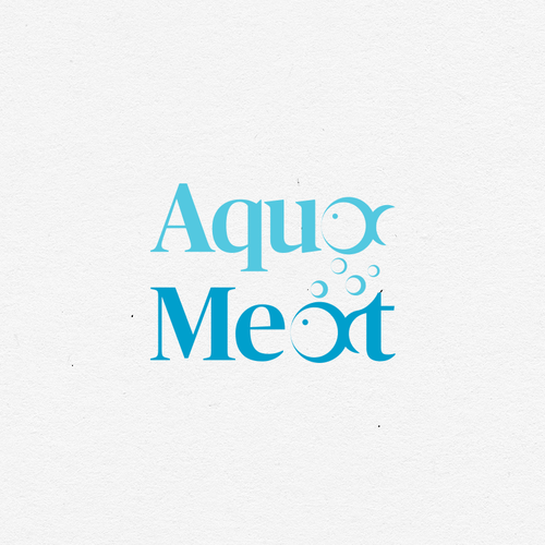 Ecological brand with the title 'AquaMeat Logo (proposal)'
