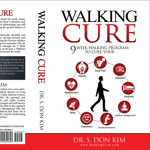 Stress design with the title 'WALKING CURE'