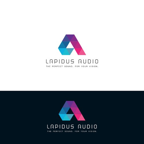 "Audio logo with the title 'Logo concept for ""Lapidus Audio""'"