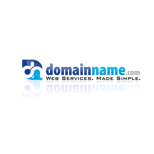 Domain logo with the title 'DomainName.com needs a new logo'