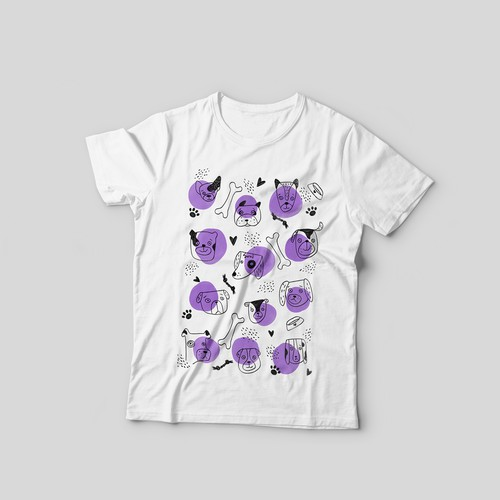 Dog t-shirt with the title 'T-shirt design'