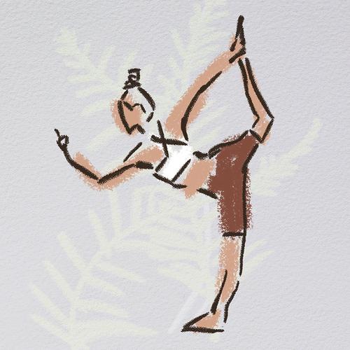 Yoga illustration with the title 'yoga minimalistic illustration'