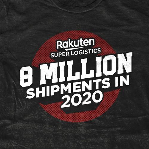 Rugged design with the title 'rakuten'