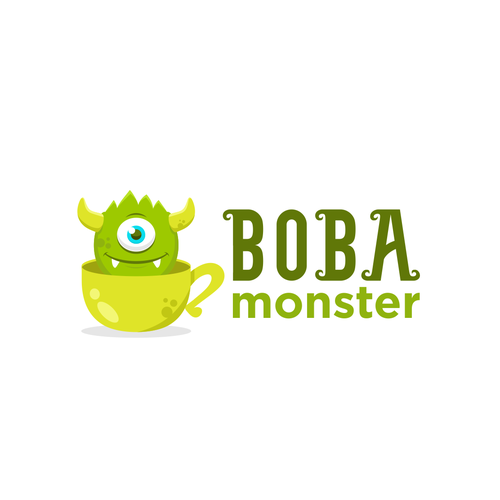 Milk logo with the title 'Design a mascot logo for Boba Monster'