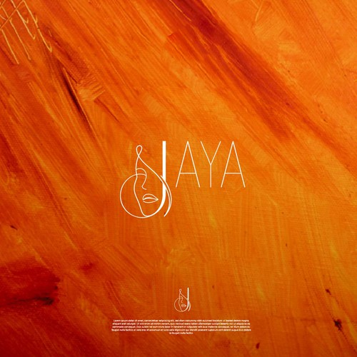 "Skincare logo with the title 'Logo concept for ""Jaya Skincare""'"