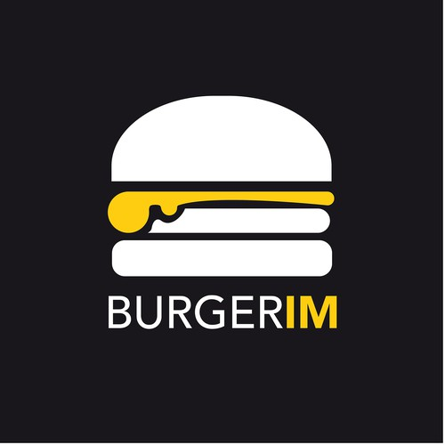 Black background design with the title 'BURGERIM'