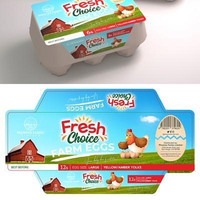 Packaging for Fresh Choice Eggs