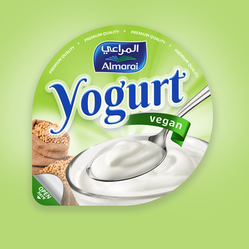 Yogurt design with the title 'Yogurt redesign'