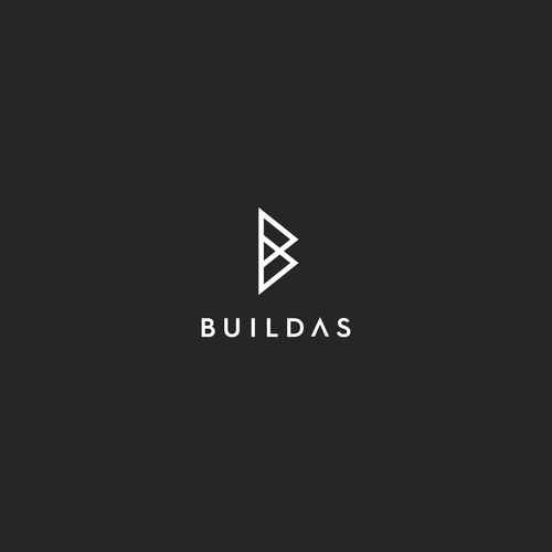 Minimal design with the title 'BUILDAS LOGO'