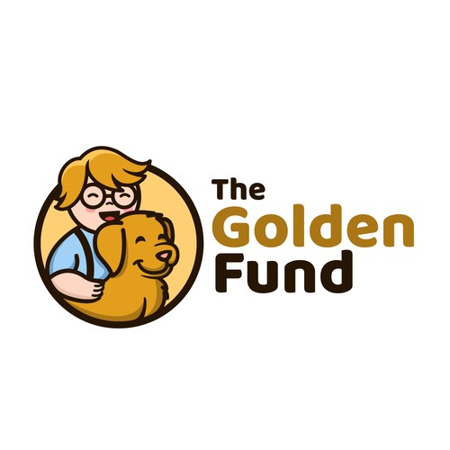 Nonprofit logo with the title 'The Golden Fund'