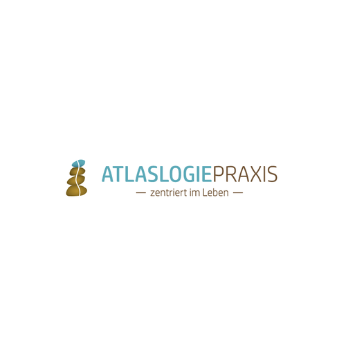 Spine design with the title 'Logo for AtlaslogiePraxis'