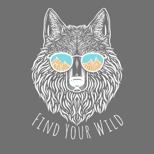 Wild t-shirt with the title 'Outdoorsy T-shirt Design '