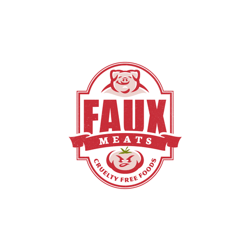 Meat logo with the title 'Faux Meats'