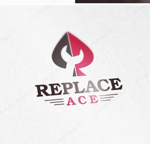 Spade logo with the title 'logo for spare parts retailer'