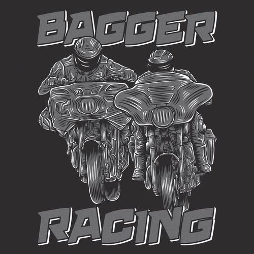Motorsport design with the title 'Racing brand shirt illustration'