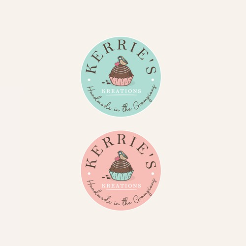 Chocolate logo with the title 'Kerrie's Kreations'