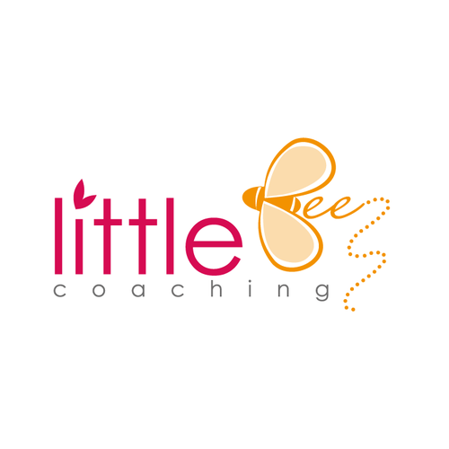 Whimsical logo with the title 'Cute Bee Logo'