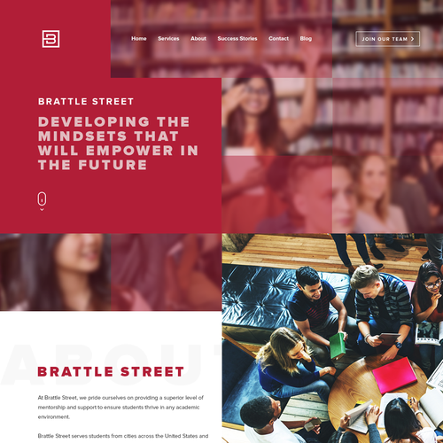 Academic design with the title 'High-design website for a luxury education brand'