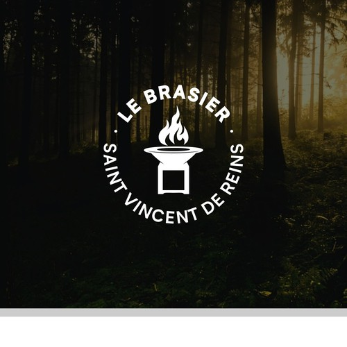 Grill brand with the title 'Logo Le Brasier'