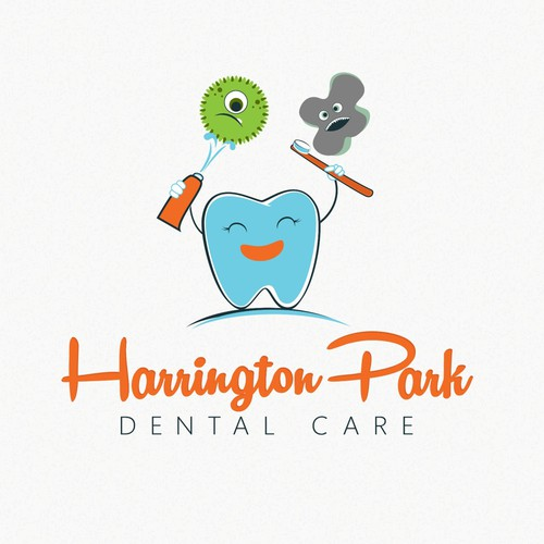Happy brand with the title 'Logo for dental surgery and care for children'