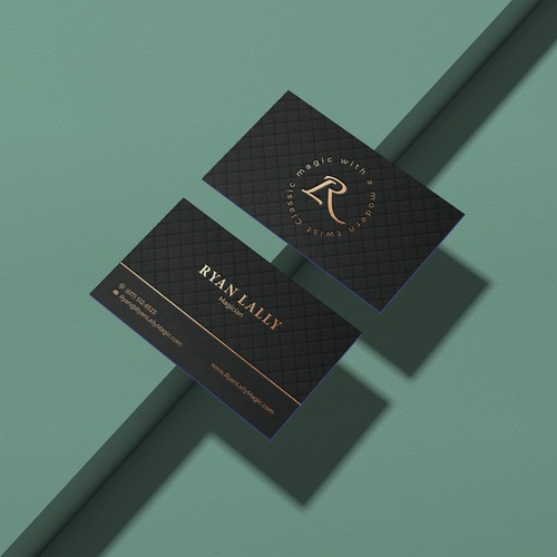 Expensive design with the title 'Business card for a magician'