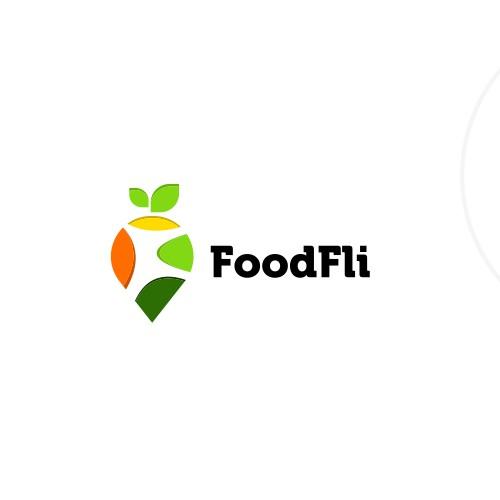 Greek food logo with the title 'FoodFli branding'