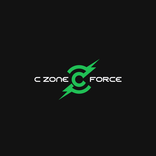 Gamer design with the title 'C ZONE FORCE Logo'