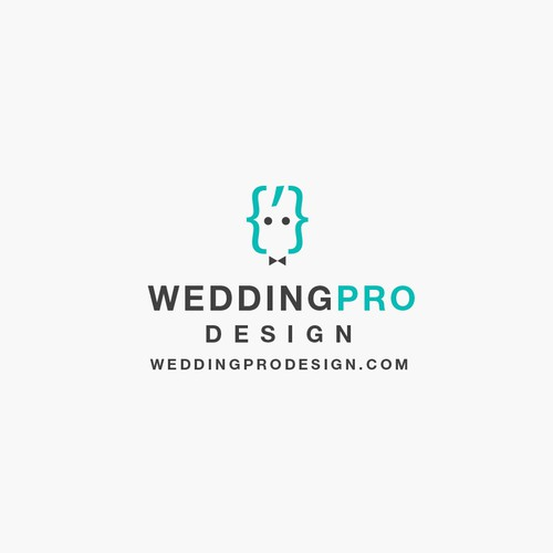Turquoise logo with the title 'Logotype for Web Studio to develop sites for wedding services.'
