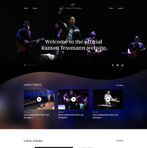 Home website with the title 'Personal Website & Blog'