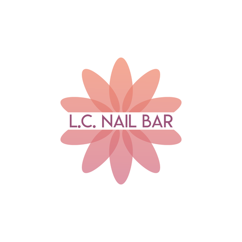 Overlapping logo with the title 'Vibrant logo Concept for Nail Bar'