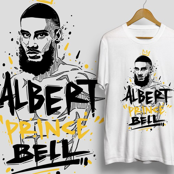 Fight design with the title 'Albert Prince Bell'