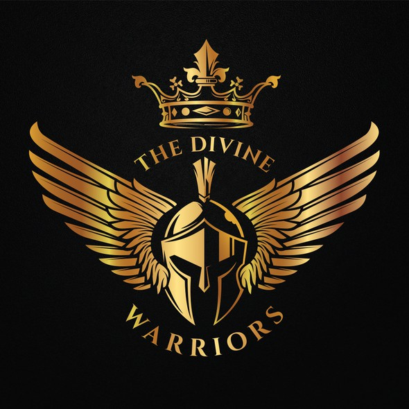Crown logo with the title 'The Divine Warriors'