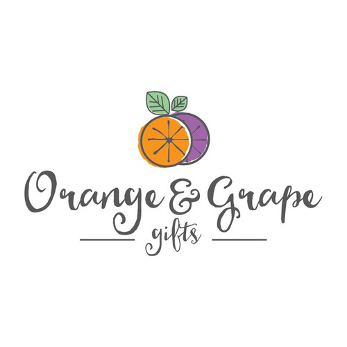 Gift shop logo with the title 'Orange & Grape gifts'