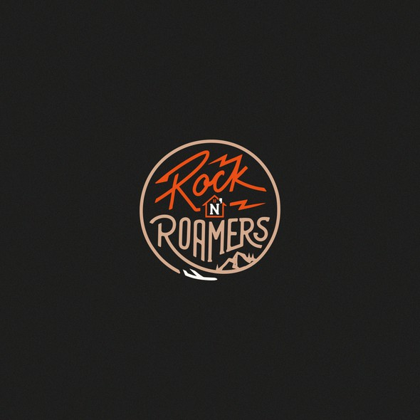 Hand-lettered logo with the title 'Rock N' Roamers'