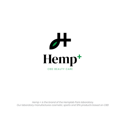 Product brand with the title 'Minimal Hemp CBD beauty product logo'