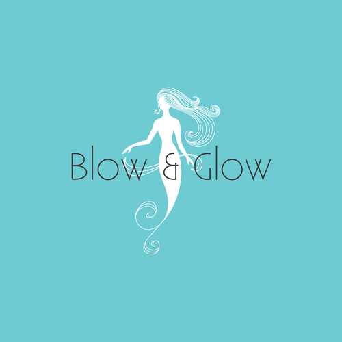 Hair logo with the title 'Logo concept for hair washing and blow dry salon'