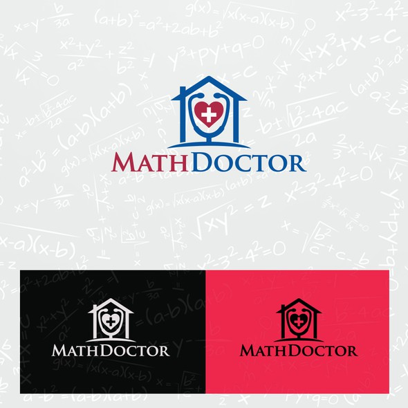 Mathematics logo with the title 'Logo for Math Doctor'