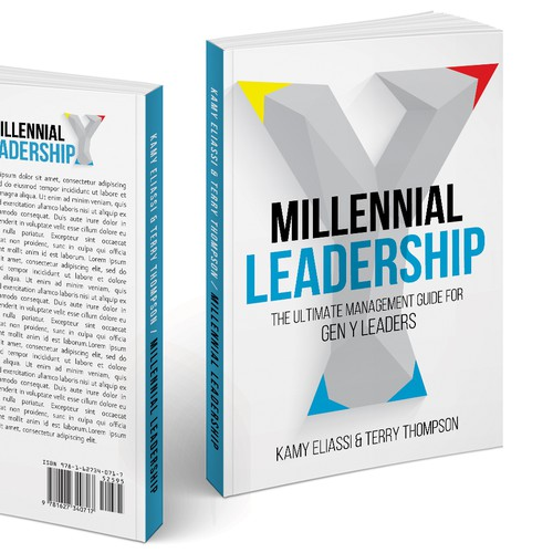 Leadership design with the title 'Cover design about Gen Y '