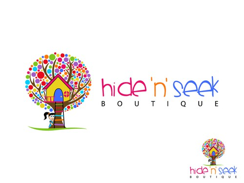 Treehouse logo with the title 'Hide 'n' Seek Boutique'