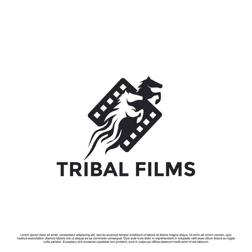 Film brand with the title 'Powerful and Sophisticated Logo for Tribal Films Production '