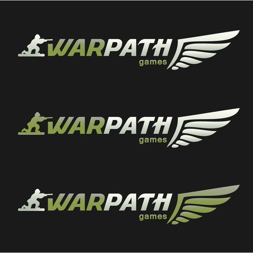 Soldier logo with the title 'WarPath Games logo'