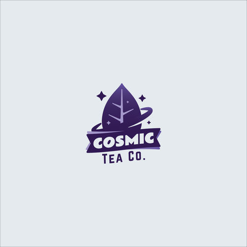Cosmic logo with the title 'Logo concept for tea company'